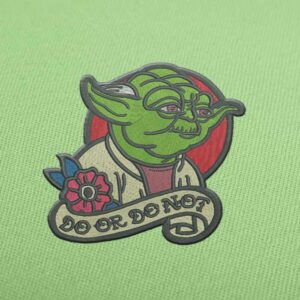 Do Or Do Not Yoda Embroidery design for Instant Download