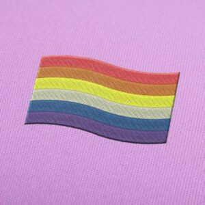 LGTB Rainbow Flag Embroidery design for Instant Download