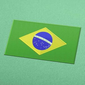 Brazil Flag Embroidery Machine Design For Instant Download
