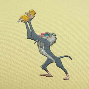 Rafiki With Baby Simba Embroidery design for Instant Download