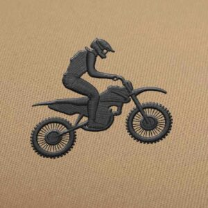 Off Road Motorcycle Embroidery design for Instant Download