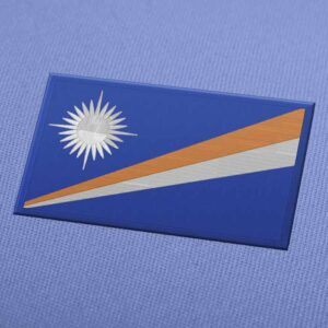 Marshall Islands Flag Embroidery Machine Design - Download