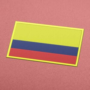 Colombia Flag Embroidery Machine Design For Instant Download