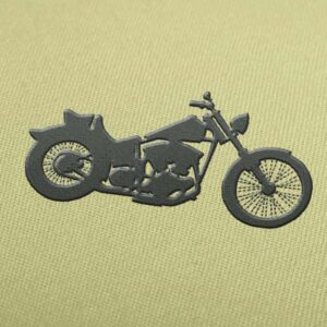 Harley Davidson Silhouette Embroidery design for Instant Download