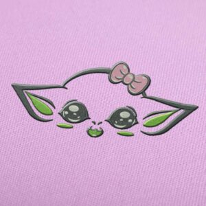Cute Yoda Embroidery design for Instant Download