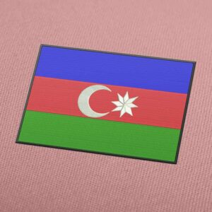 Azerbaijan Flag Embroidery Machine Design For Instant Download