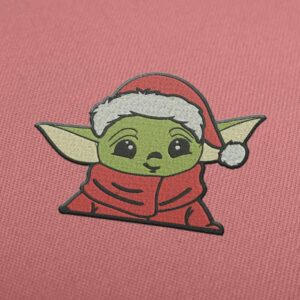 Yoda Christmas Embroidery design for Instant Download