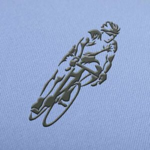 Cyclist Embroidery design for Instant Download