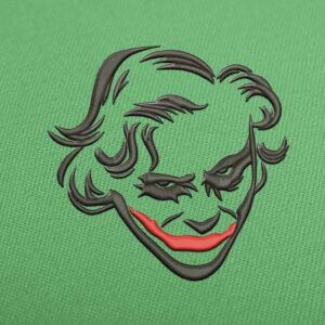 Joker Face Embroidery design for Instant Download