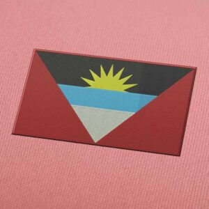 Antigua Flag Embroidery Machine Design For Instant Download