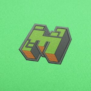 Minecraft Logo Embroidery design for Instant Download
