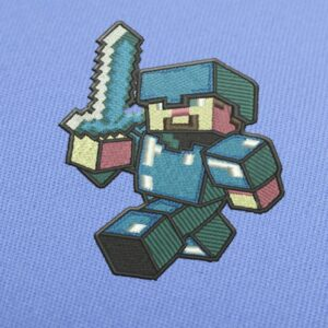 Minecraft Steve Boss Embroidery design for Instant Download
