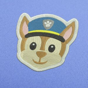 Paw Patrol Chase Embroidery design for Instant Download