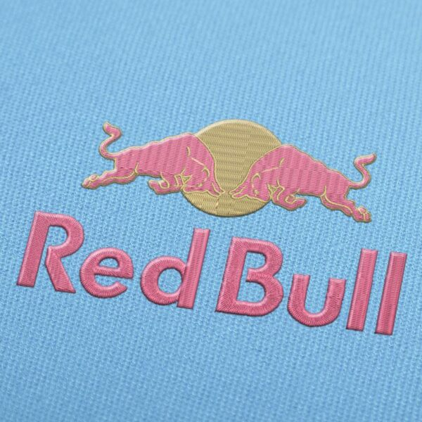 Red Bull Logo 2 Embroidery design for Instant Download