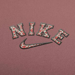 Nike Cow Print Logo 2 Embroidery Design for Download