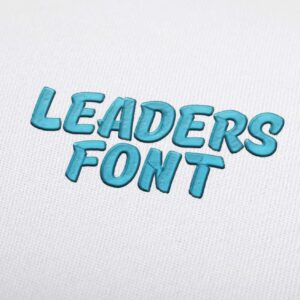 Leaders Font - Machine Embroidery Design Fonts Download