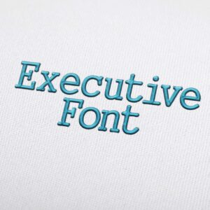 Executive Font - Machine Embroidery Design Fonts Download