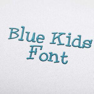 Blue Kids - Machine Embroidery Design Fonts Download