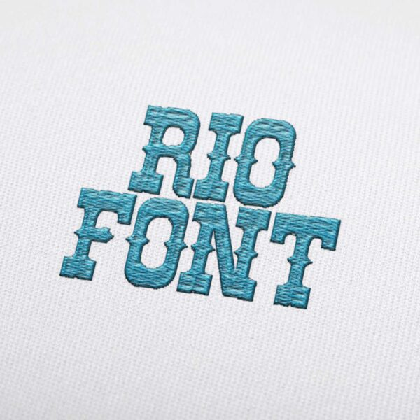 Rio Font - Machine Embroidery Design Fonts Download