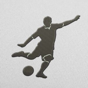 Footballer Penalty Embroidery Design for Download