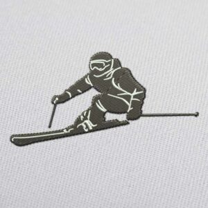 Alpine Skiing Embroidery Design for Download