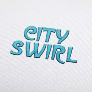 City Swirl - Machine Embroidery Design Fonts Download