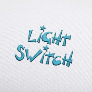 Light Switch - Machine Embroidery Design Fonts Download