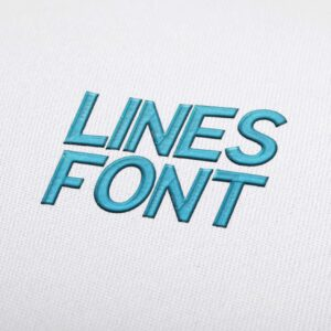 Lines Font - Machine Embroidery Design Fonts Download