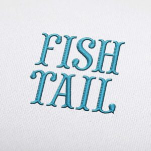 Fish Tail Font - Machine Embroidery Design Fonts Download