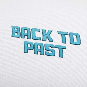 Back To Past Font - Machine Embroidery Design Fonts Download