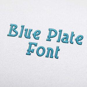 Blue Plate - Machine Embroidery Design Fonts Download