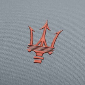 Maserati Car Logo Embroidery design for Instant Download