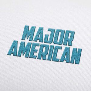 Major American Font - Machine Embroidery Design Fonts Download