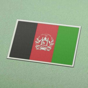 Afghanistan Flag Embroidery Machine Design For Instant Download
