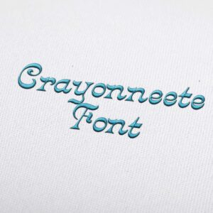Crayonneete Font - Machine Embroidery Design Fonts Download