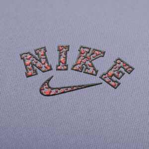 Nike Cow Print Logo Embroidery Design for Download
