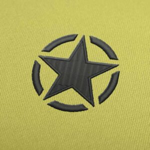 Jeep Star Logo Embroidery design for Instant Download