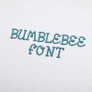 Bumblebee Font - Machine Embroidery Design Fonts Download