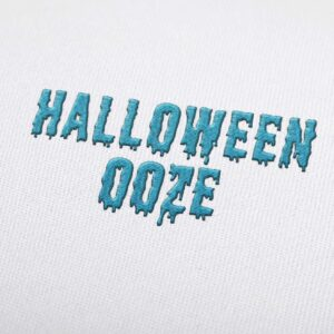 Halloween Ooze Font - Machine Embroidery Design Fonts Download