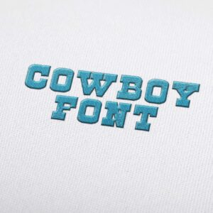 Cowboy - Machine Embroidery Design Fonts Download