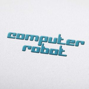 Computer Robot - Machine Embroidery Design Fonts Download