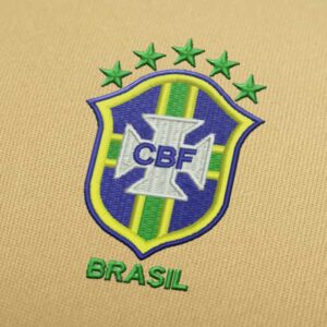 Brazil Football Logo Embroidery design for Instant Download