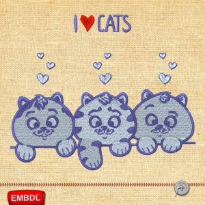 Funny Cats - Embroidery design download