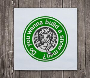 Frozen Starbucks Embroidery Design for Instant Download