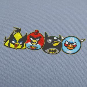 Angry Birds Heroes Embroidery Design For Instant Download