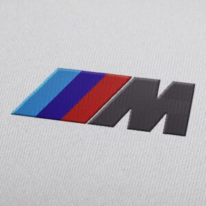 BMW M Power Logo Embroidery Design For Instant Download
