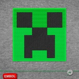 Minecraft 1 Logo Embroidery Design For Instant Download