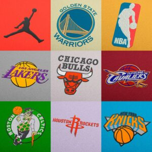 NBA Basketball Embroidery Designs Pack - Digital Download