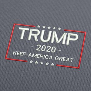 Trump Keep America Great 2020 White Embroidery Design Download