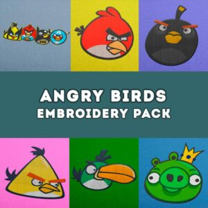 Angry Birds Embroidery Designs Pack -  Digital Download